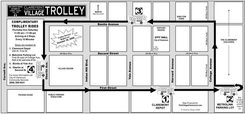 The Village of Claremont CA - Trolley News & Map on