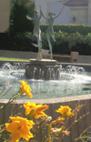Pomona College Sculpture and Fountain photo