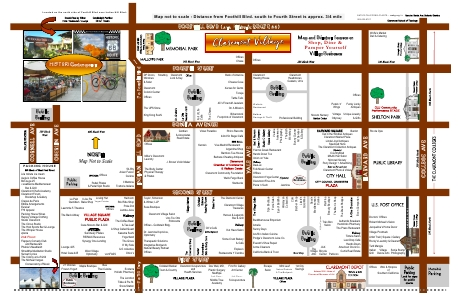 Claremont Village map and directory on